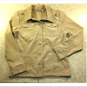 Tan Corduroy Button Up Blazer Jacket w/ Pockets